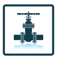 Pipe valve icon vector image vector image
