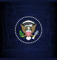 president seal eagle vector image vector image