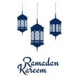 Ramadan Kareem design with arabic lanterns vector image