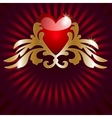 red heart vector image vector image