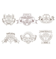 Retro farm fresh labels badges and design vector image vector image