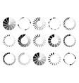 round page circles internet loading vector image