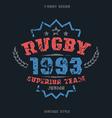 Rugby team emblem vector image vector image