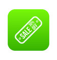 sale tag 30 percent off icon digital green vector image vector image