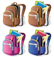 School backpack vector | Price: 1 Credit (USD $1)