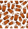 Seamless fast food coffee pattern background vector image vector image