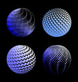 set abstract halftone 3d spheres 1 vector image vector image