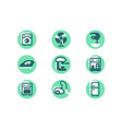 set icons with home appliances fridge washer vector image