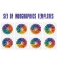 set infographics universal flat templates vector image vector image