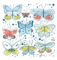 Set of butterfly Hand drawn vector image vector image