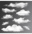 set transparent realistic clouds vector image