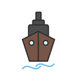 ship line filled icon vector image vector image