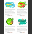 summer big sale posters with summertime icons sign vector image