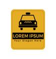 taxi service brand logo design vector image vector image