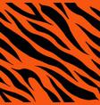tiger fur terracotta orange skin texture seamless vector image