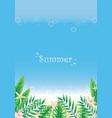 tropical garden with sealife border on beach vector image