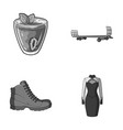 vegetarianism shoes and other monochrome icon in vector image vector image