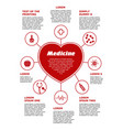 vertical template medical poster red infographic vector image