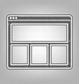 web window sign pencil sketch imitation vector image vector image