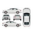 white car template vector image vector image