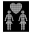 white halftone lesbi love pair icon vector image