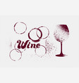 wine typographical vintage grunge poster vector image