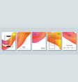 abstract bright posters set vector image vector image