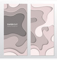 abstract grey banner - set template vector image vector image