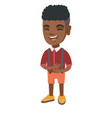african-american cheerful boy laughing vector image vector image