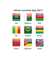 African flags set 4 vector | Price: 1 Credit (USD $1)