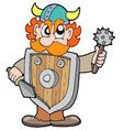 angry viking warrior vector image