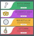 beer banner templates set vector image