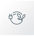 bio energy icon line symbol premium quality vector image vector image