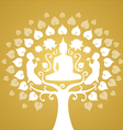 Buddha and bothi tree vector image