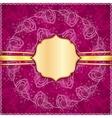 Burgundy flowers ornate background vector image