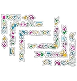 Celtic ornament patterns with colorful elements vector image vector image