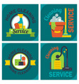 cleaning service emblems labels design home vector image