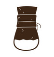 coffee brew method chemex silhouette icon style vector image vector image