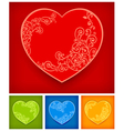 color heart vector image vector image