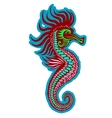 Colorful seahorse vector image vector image