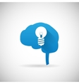 Creative Idea Symbol Brain and lightbulb vector image vector image
