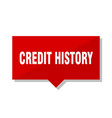 Credit history red tag