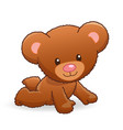 cute cuddly fuzzy teddy bear vector image vector image
