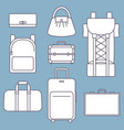 different types of bags white flat vector image vector image