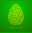easter egg flowers vector image vector image