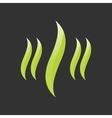 eco grass icon vector image vector image