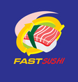 Fast Sushi vector image vector image