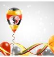 Flag of Uganda on balloon vector image vector image