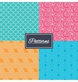 Floral ornament roof tiles and hex textures vector image vector image