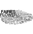 flower fairies text background word cloud concept vector image vector image
